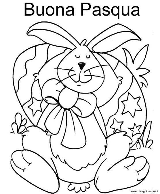 Coniglio Buona Pasqua Da Colorare Disegno Di Pasqua Da Stampare E